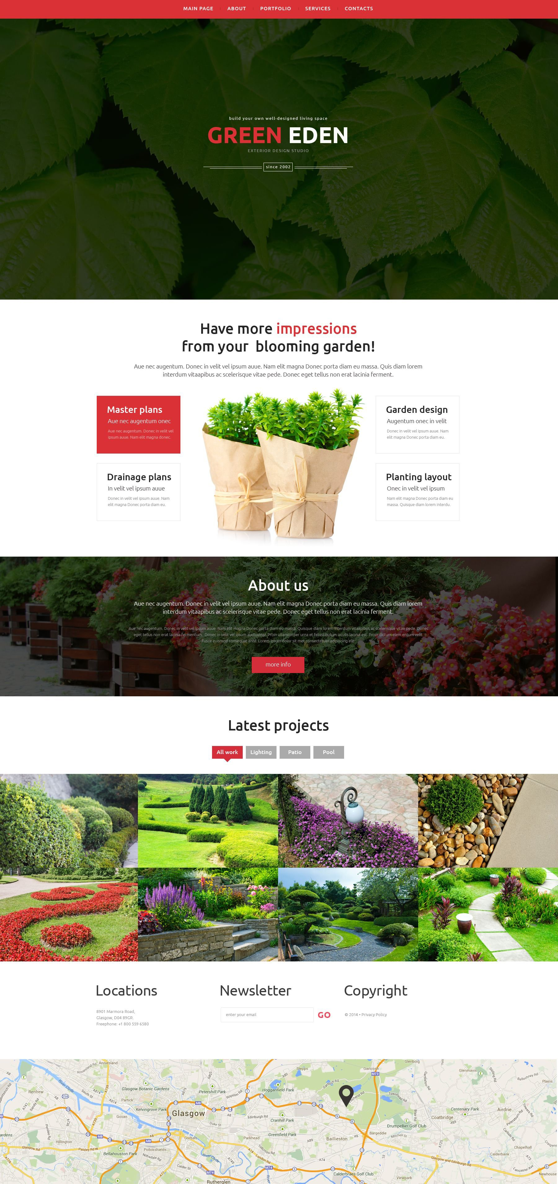 Garden Design Responsive Website Template #51402