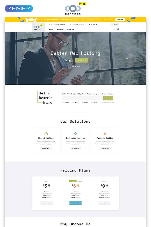 Plantilla Web #51489 para Sitio de Hosting