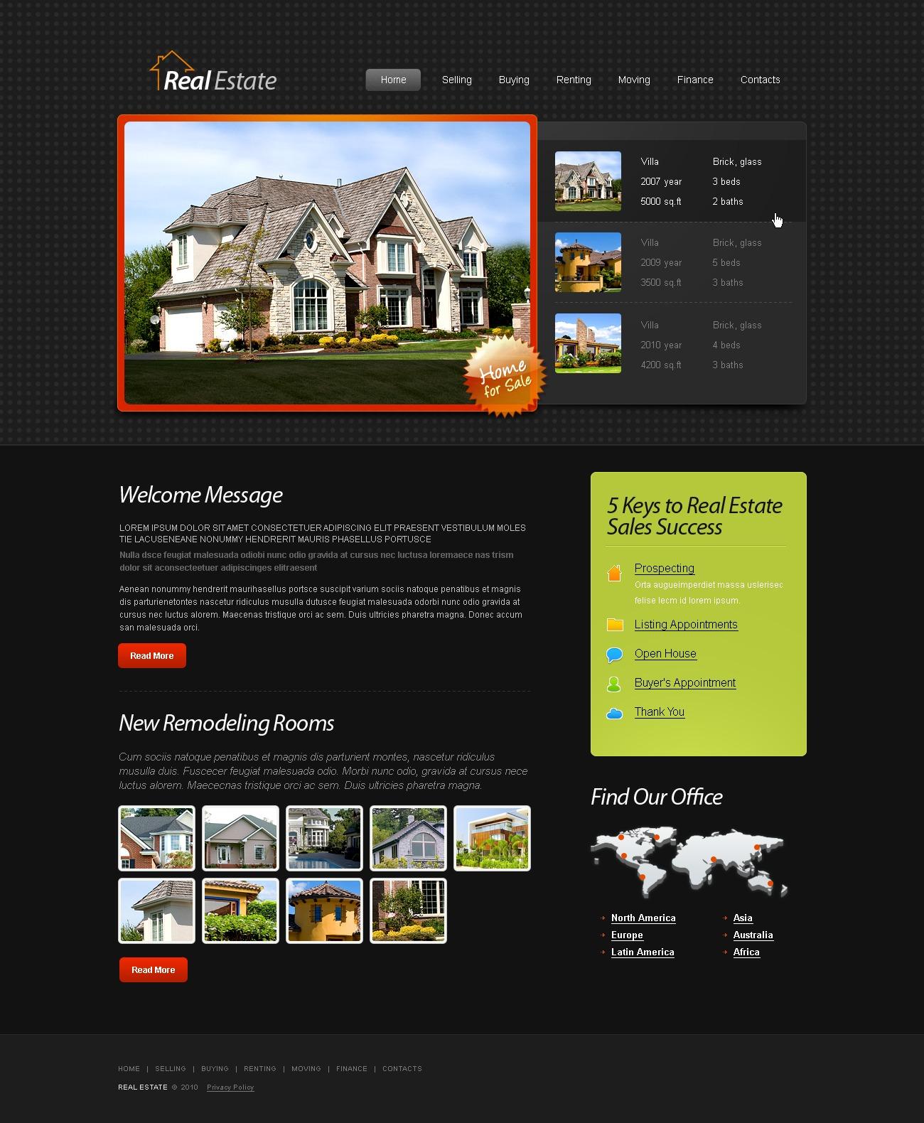 Plantilla web 51487 para sitio de inmuebles for Paginas de inmuebles