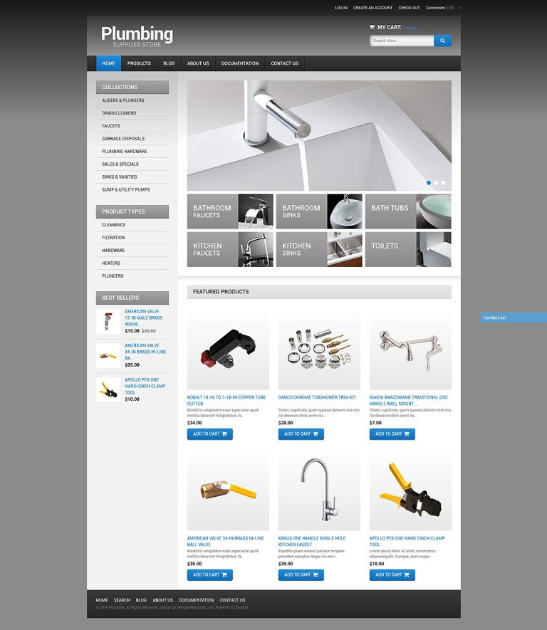 Plumbing Shopify Theme New Screenshots BIG