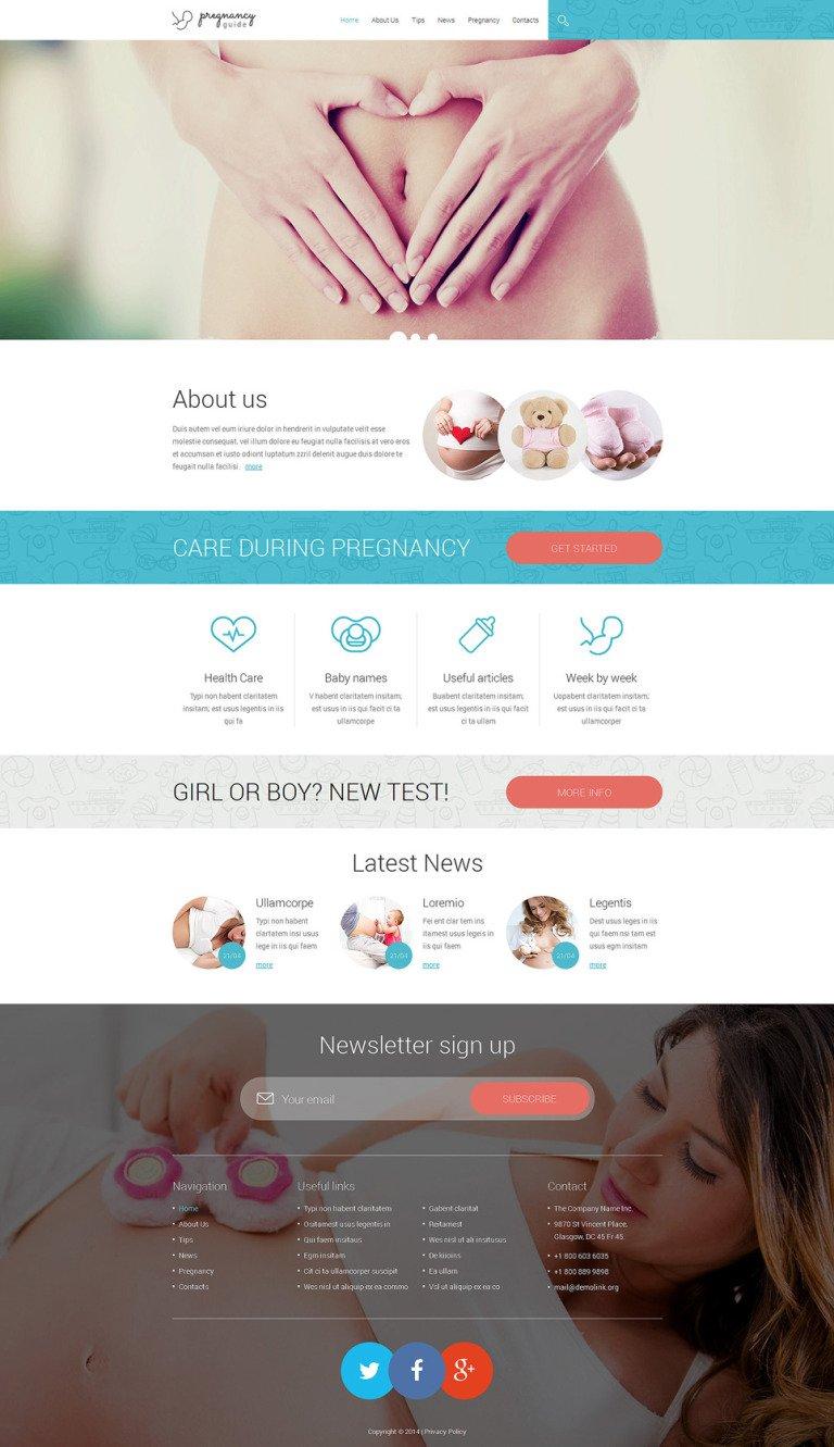 Pregnancy Responsive Website Template New Screenshots BIG