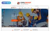 "Tema Siti Web Responsive #51405 ""Civil Group - Construction Company Multipage Modern HTML"""