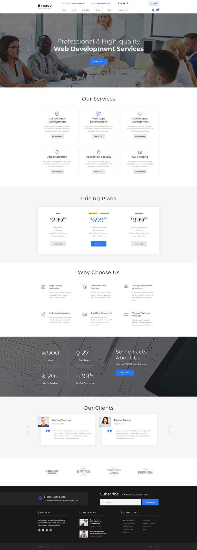 Web Development Responsive Website Template New Screenshots BIG