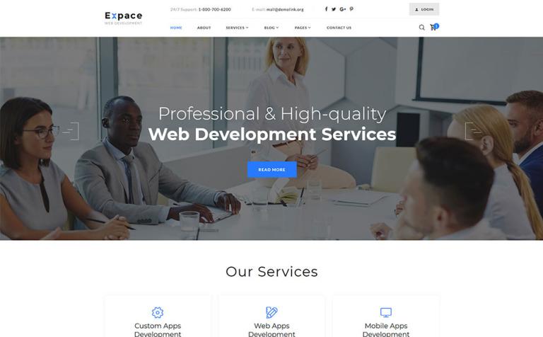 Web Development Responsive Website Template