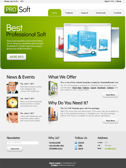ADOBE Photoshop Template 51524 Home Page Screenshot