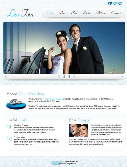 ADOBE Photoshop Template 51532 Home Page Screenshot