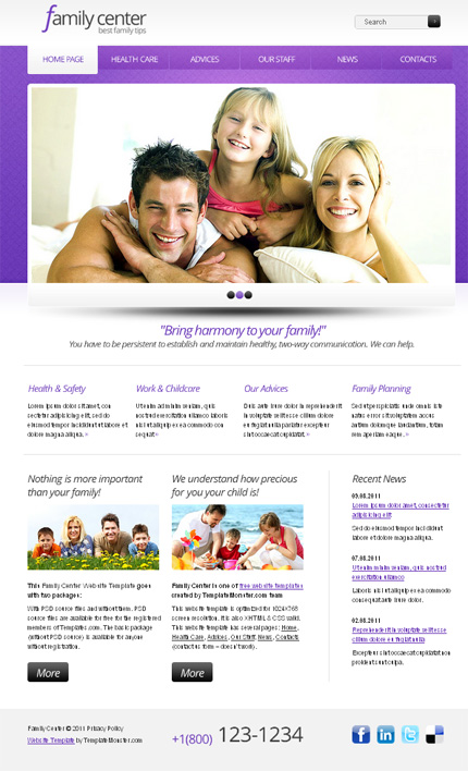 ADOBE Photoshop Template 51533 Home Page Screenshot