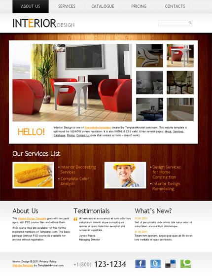 ADOBE Photoshop Template 51534 Home Page Screenshot