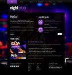 Night Club Website  Template 51540