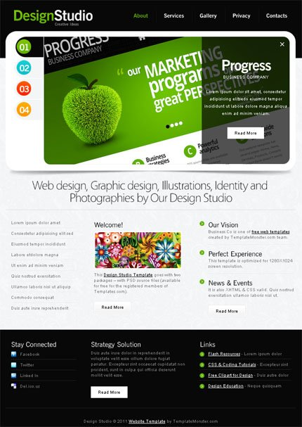 ADOBE Photoshop Template 51543 Home Page Screenshot