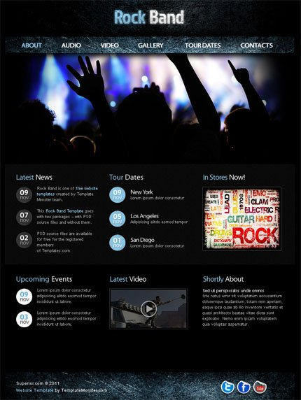 ADOBE Photoshop Template 51547 Home Page Screenshot