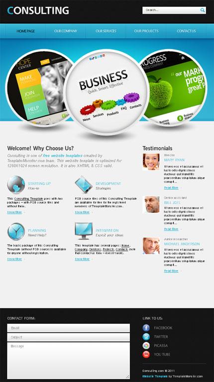ADOBE Photoshop Template 51551 Home Page Screenshot