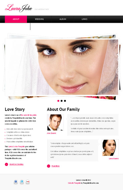 ADOBE Photoshop Template 51555 Home Page Screenshot