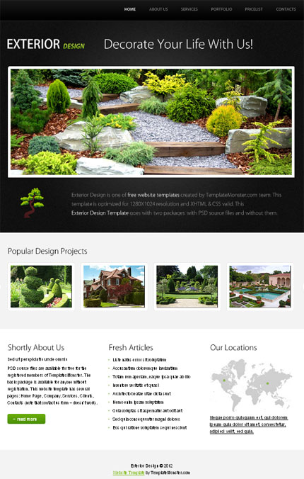 ADOBE Photoshop Template 51556 Home Page Screenshot