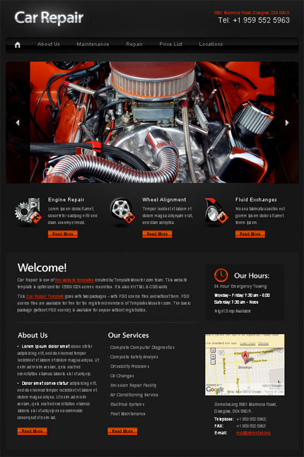 ADOBE Photoshop Template 51558 Home Page Screenshot