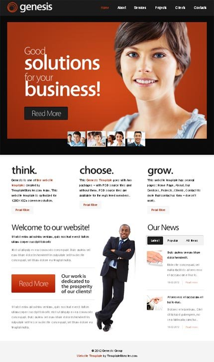 ADOBE Photoshop Template 51568 Home Page Screenshot