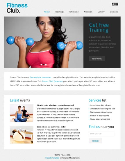 ADOBE Photoshop Template 51573 Home Page Screenshot