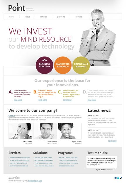 ADOBE Photoshop Template 51599 Home Page Screenshot
