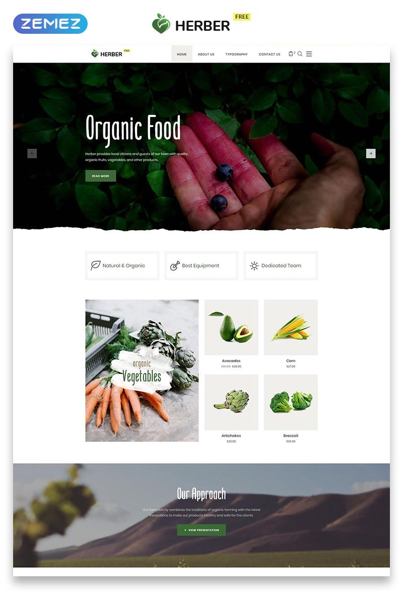 Бесплатный шаблон  для сайта доставки еды №51557 - скриншот
