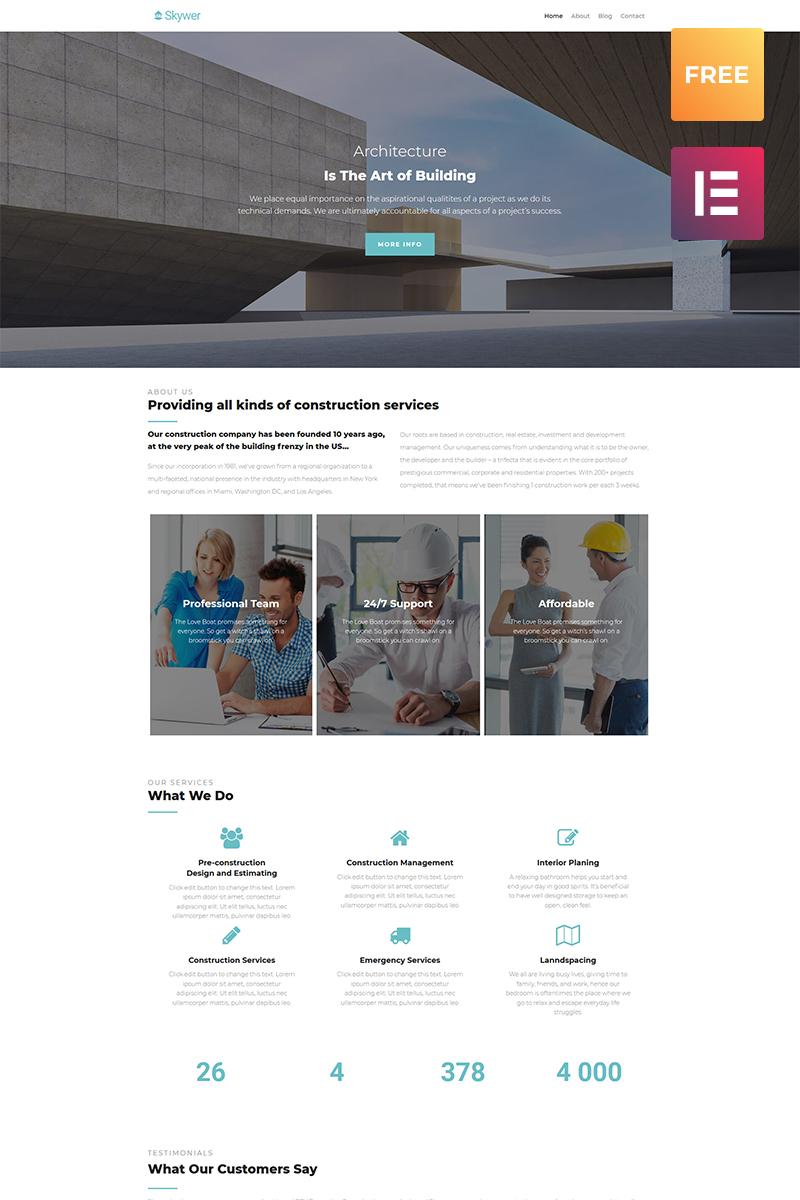 Бесплатный шаблон WordPress 3.1 для агентства недвижимости №51561