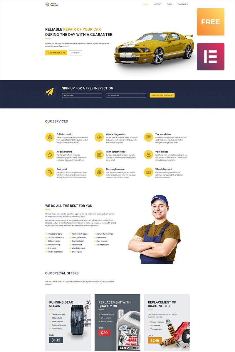 Бесплатный WordPress шаблон автосайта №51591