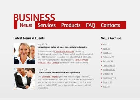 Free Business   - Single Page Layout