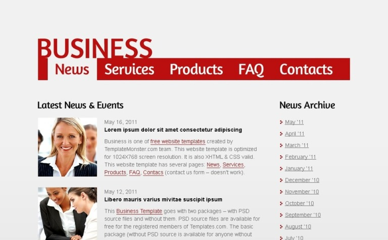 Free business web template single page layout wajeb Image collections