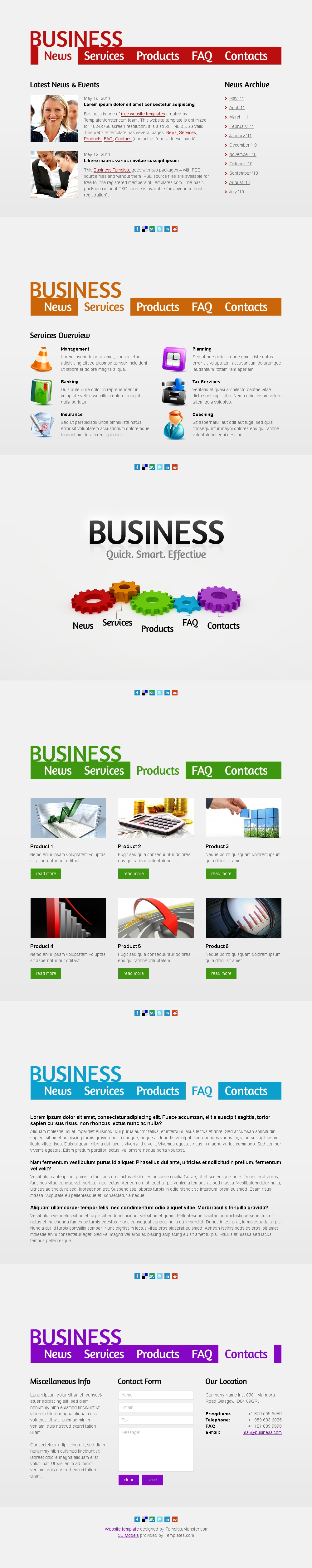 Free business web template single page layout zoom in accmission Choice Image