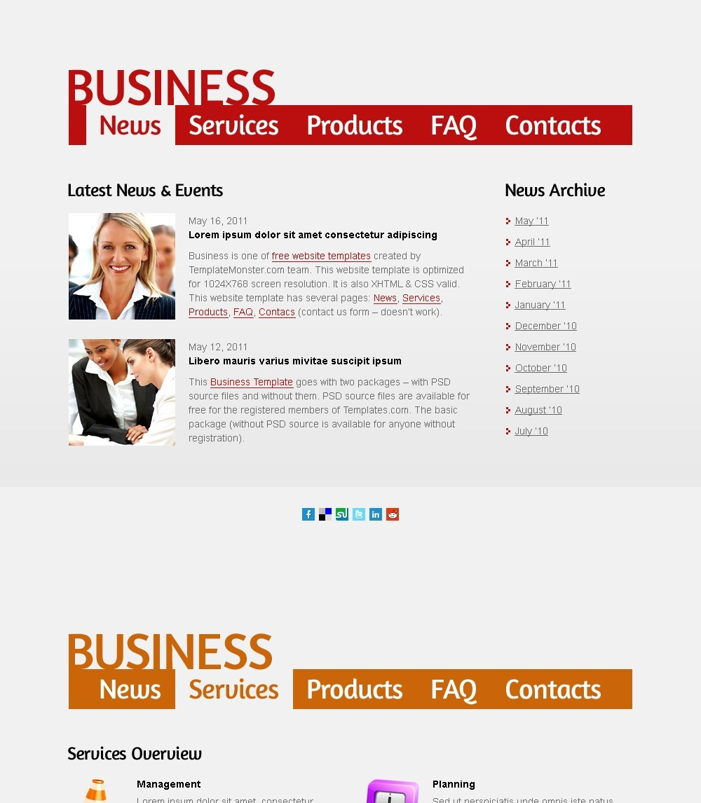 Free Business Web Page Templates: Free Business Web Template