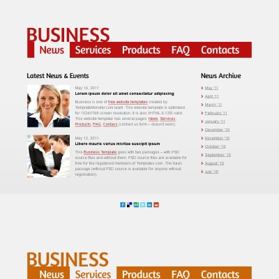 Free business web template single page layout business website template accmission Choice Image