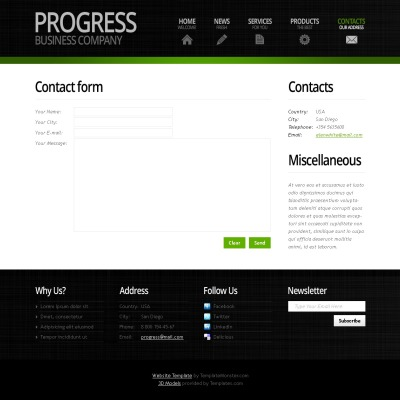 Free Business Website Template with Header Slider