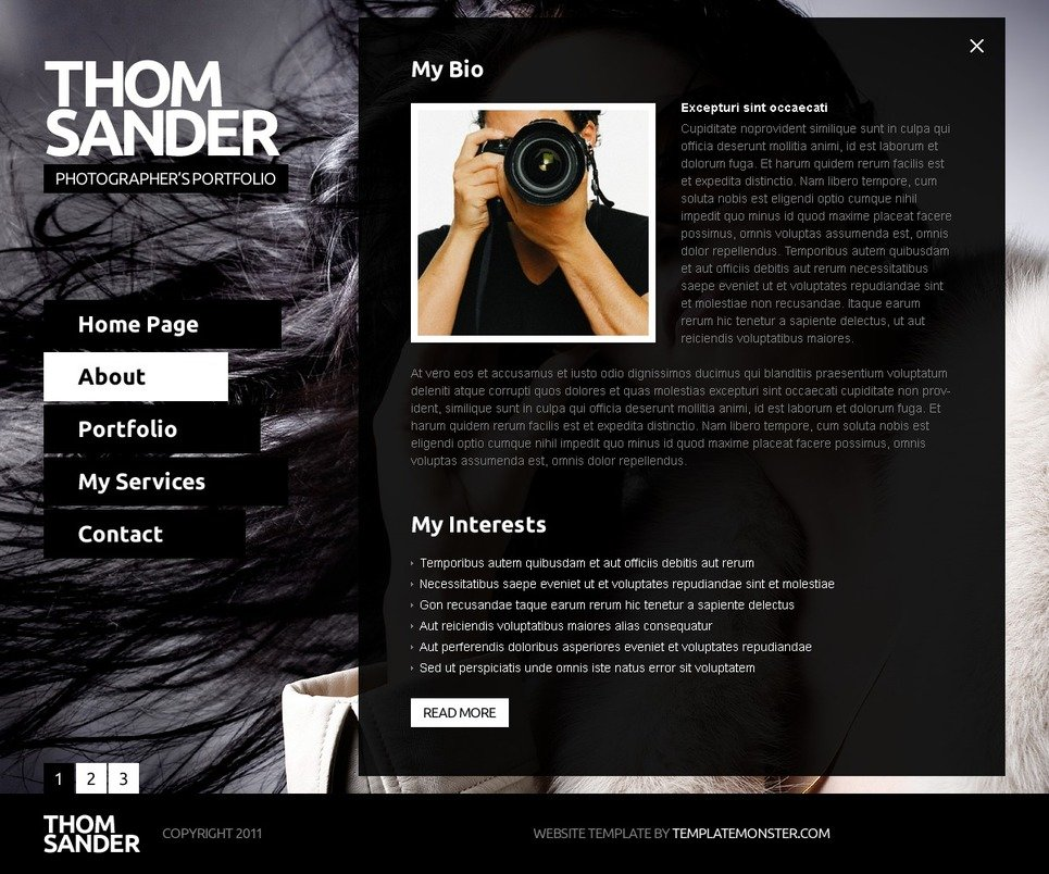 Fashion Photography Website Templates