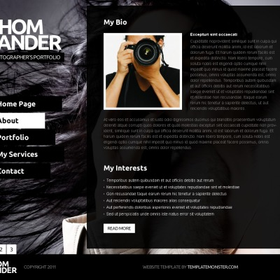 Free Full JS Website Template Photography - Photography portfolio website templates free