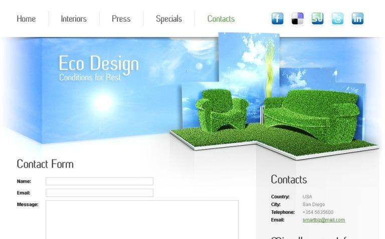 Free furniture website template maxwellsz