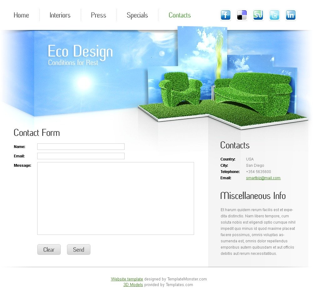 free furniture website template