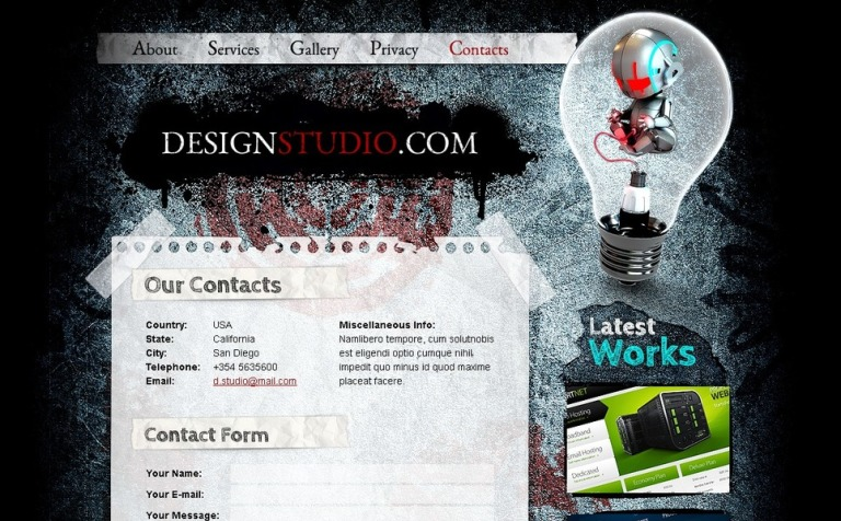 Free HTML Theme for Design Studio