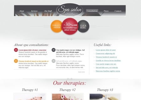 Free HTML  for Spa Salon