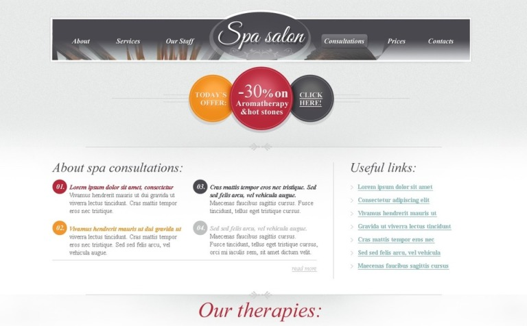 Free HTML Theme for Spa Salon Website