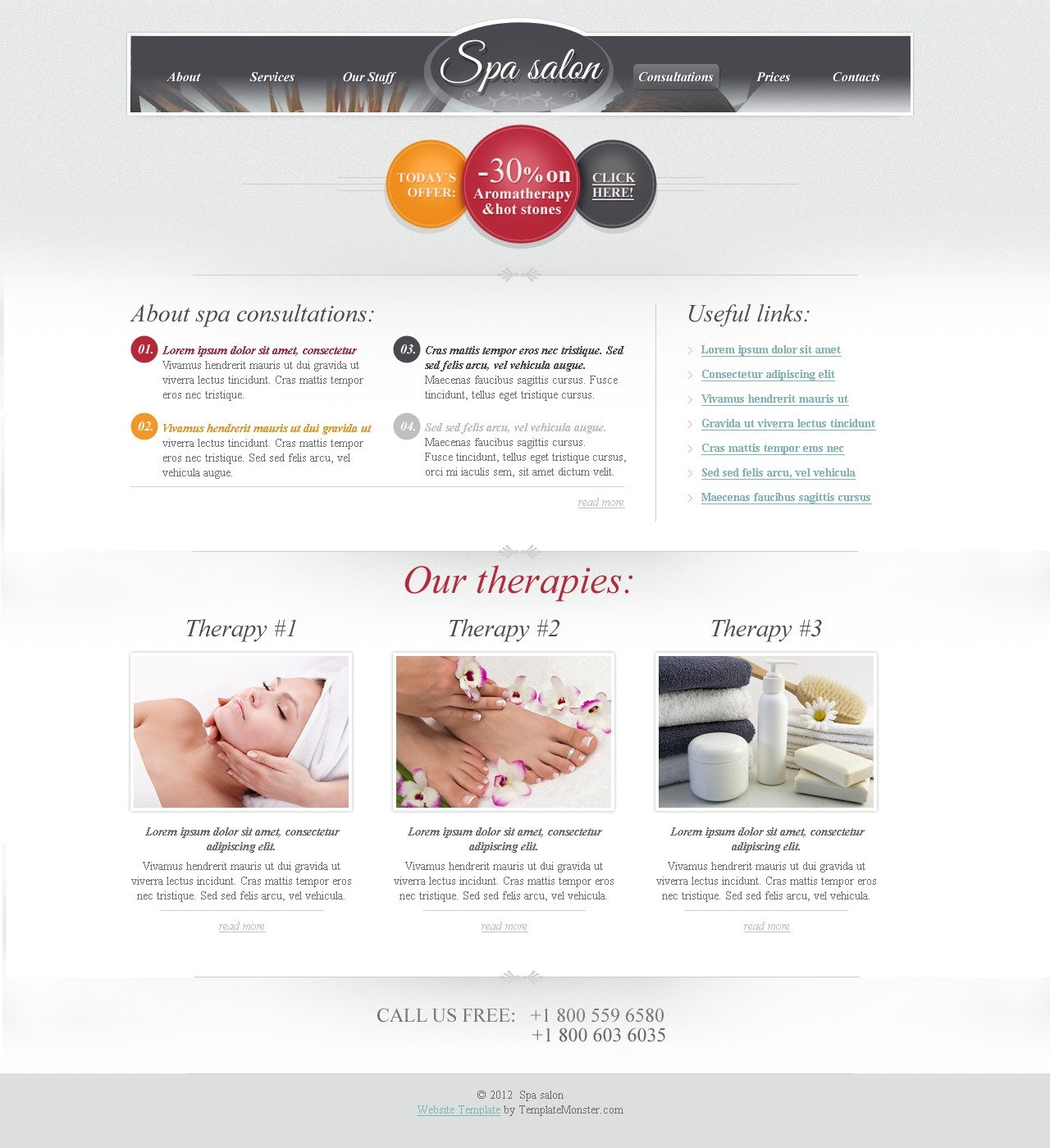 free html theme for spa salon website. Black Bedroom Furniture Sets. Home Design Ideas