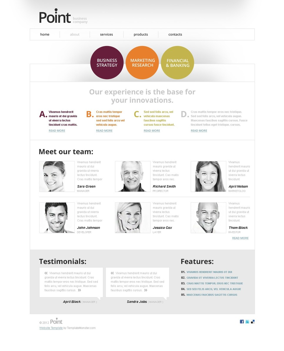 Free html5 template for business website free html5 template for business website website template new screenshots big cheaphphosting Image collections
