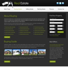 free real estate business template