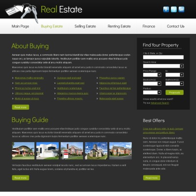 Free real estate templates templatemonster cheaphphosting Images
