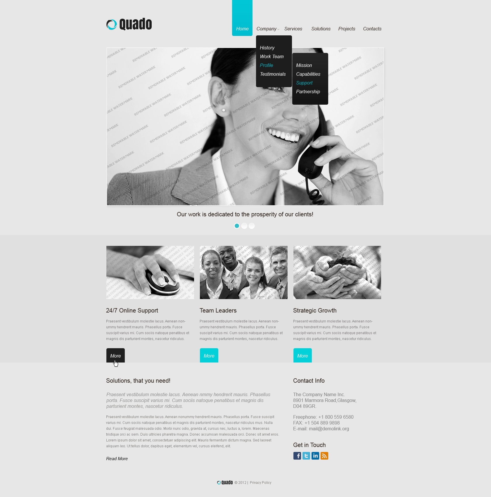 free responsive website template - Free Responsive Website Templates