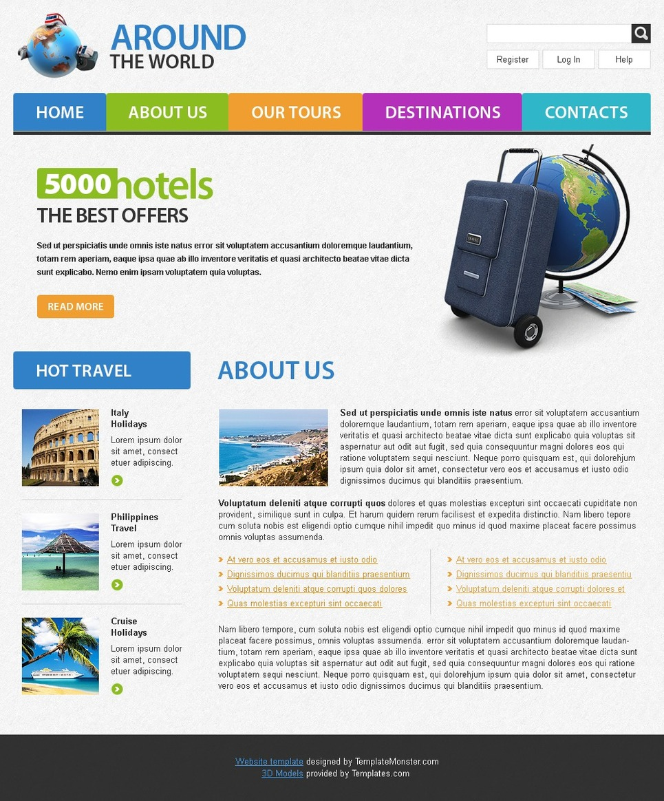 Free travel website template free travel website template website template new screenshots big maxwellsz