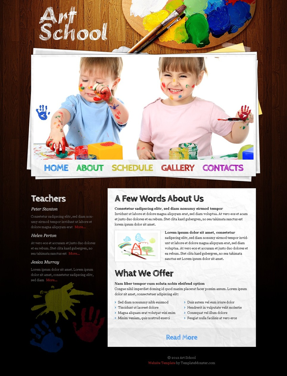 Free website template art school for Free online drawing websites