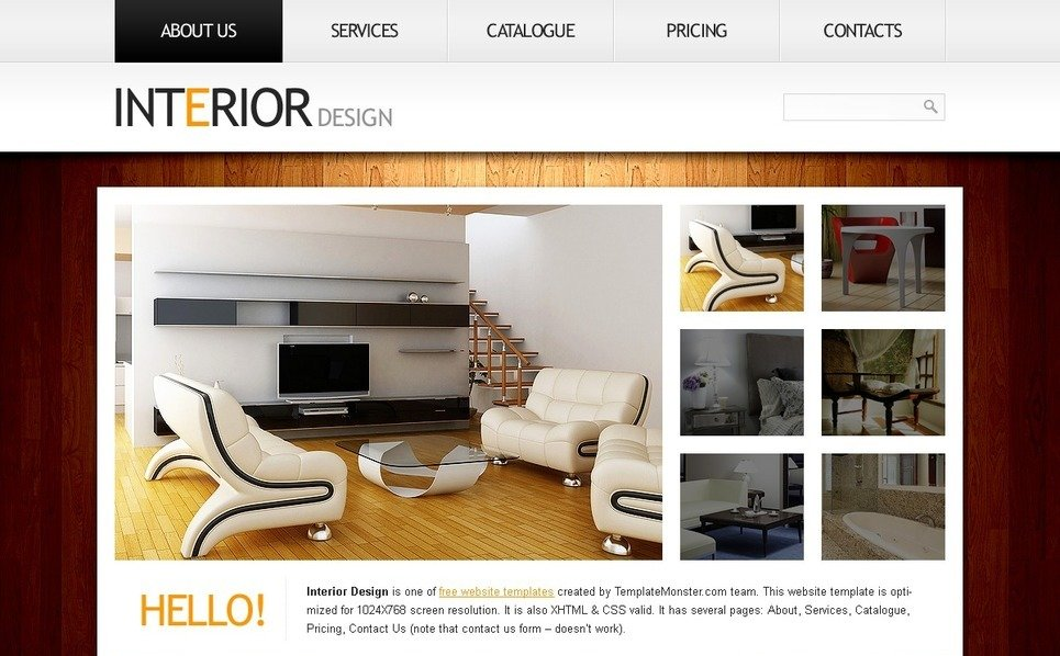 Free website template clean style interior for Clean interior design