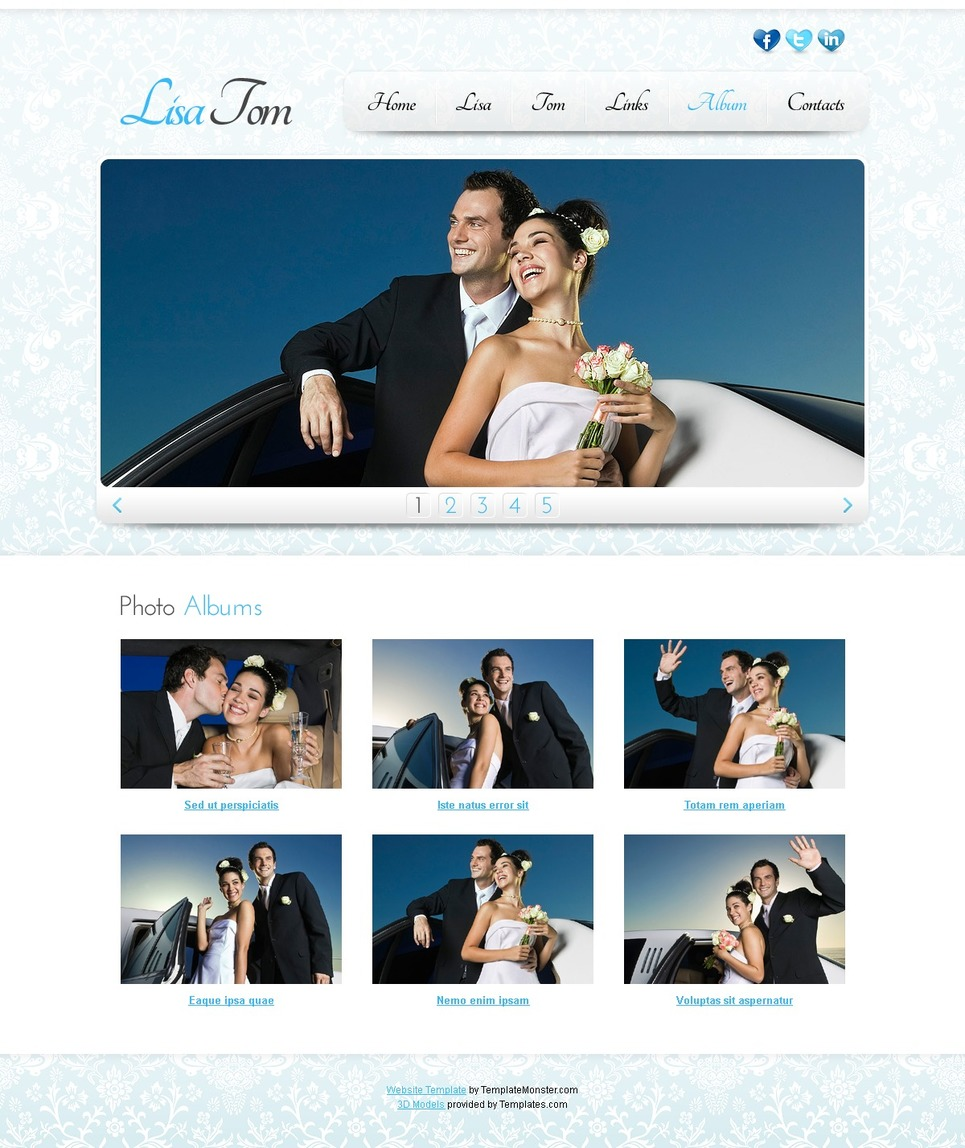 Free Website Template Clean Style New Screenshots