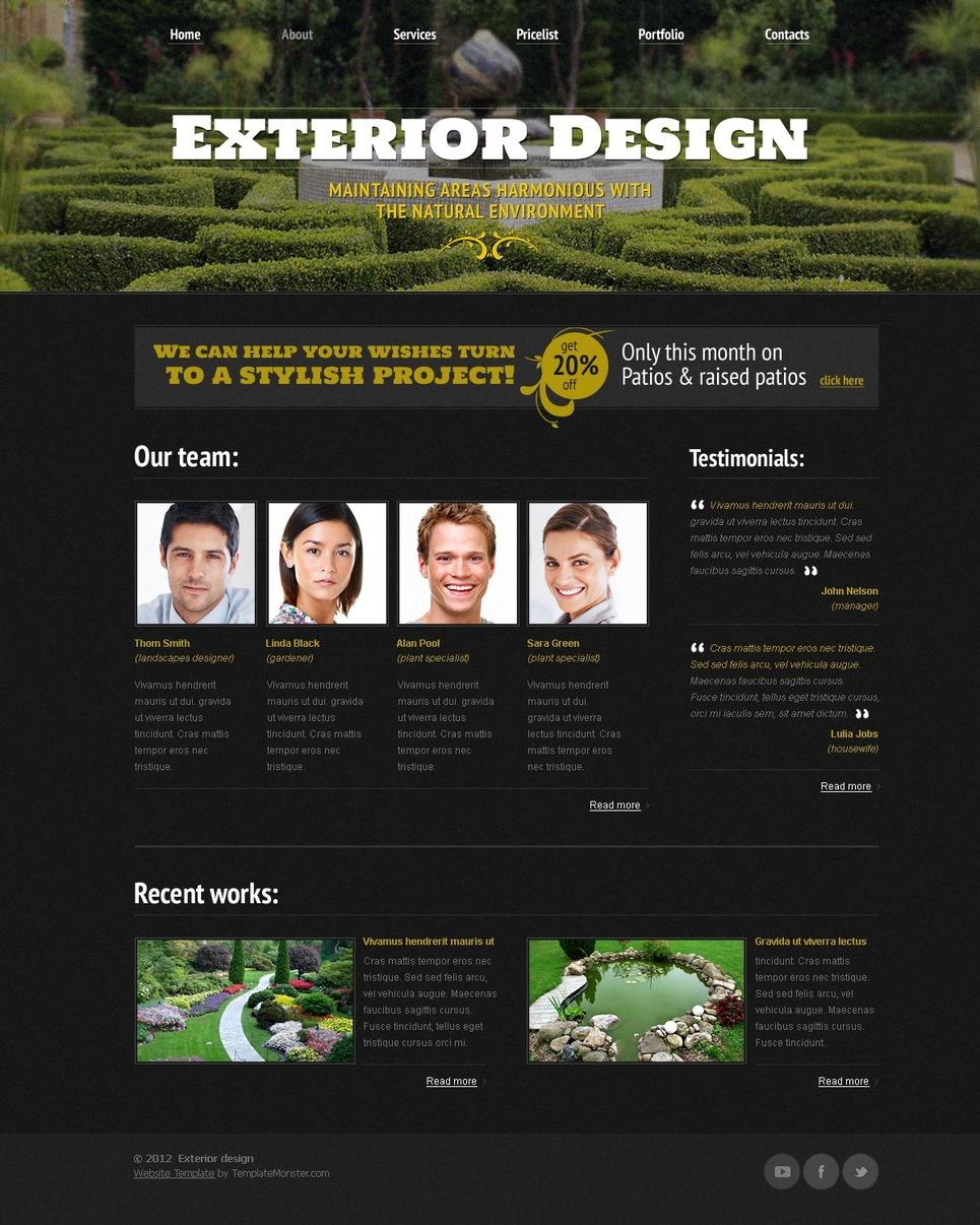 Free website template exterior design for Exterior design templates