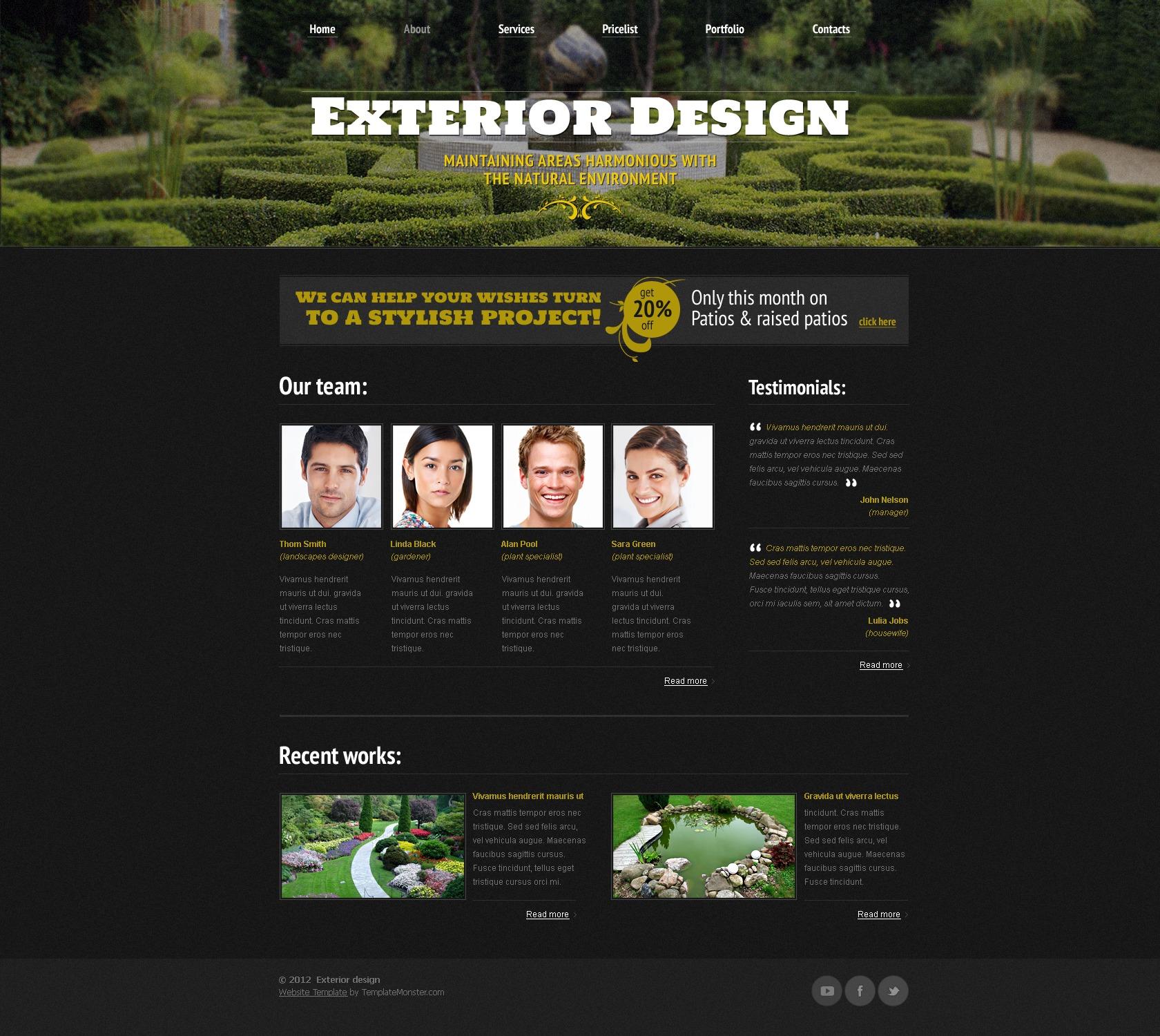 Free Website Template - Exterior Design Website Template - screenshot