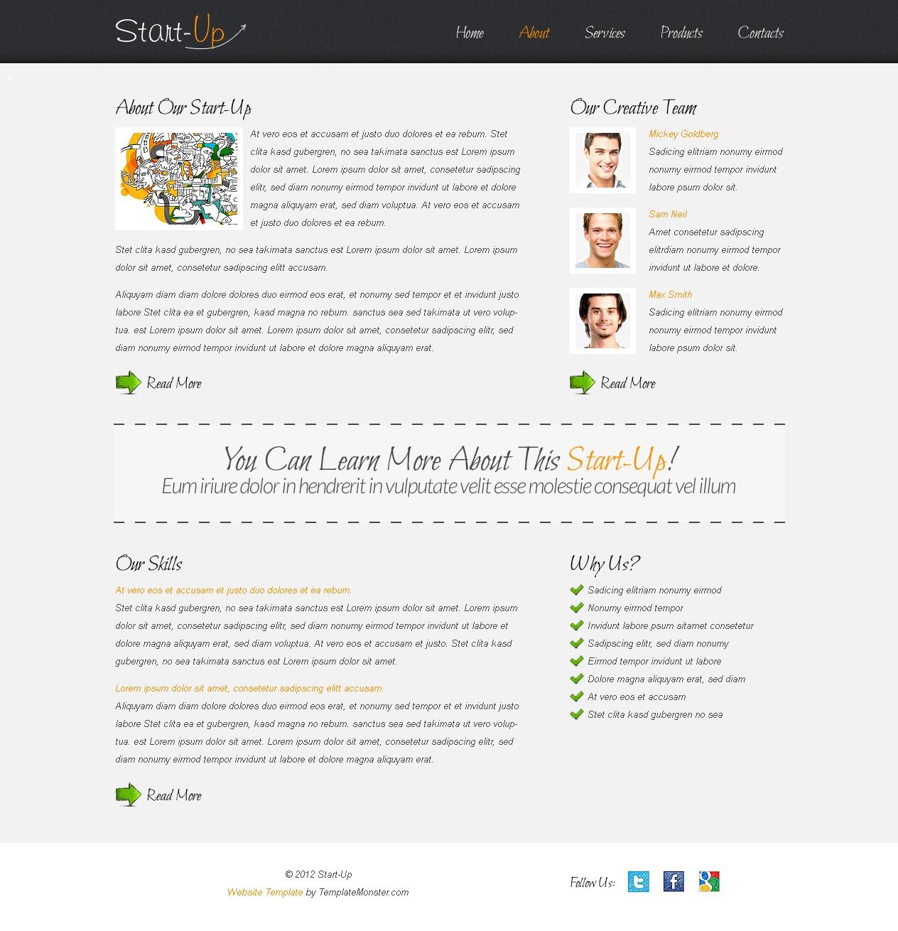 Free Website Template for a Business Website Website Template - screenshot